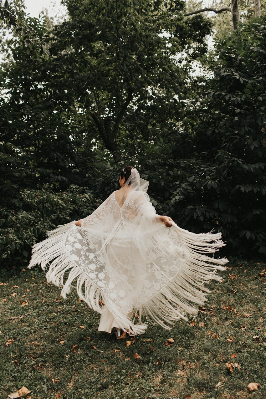 Tassled Wedding Dress