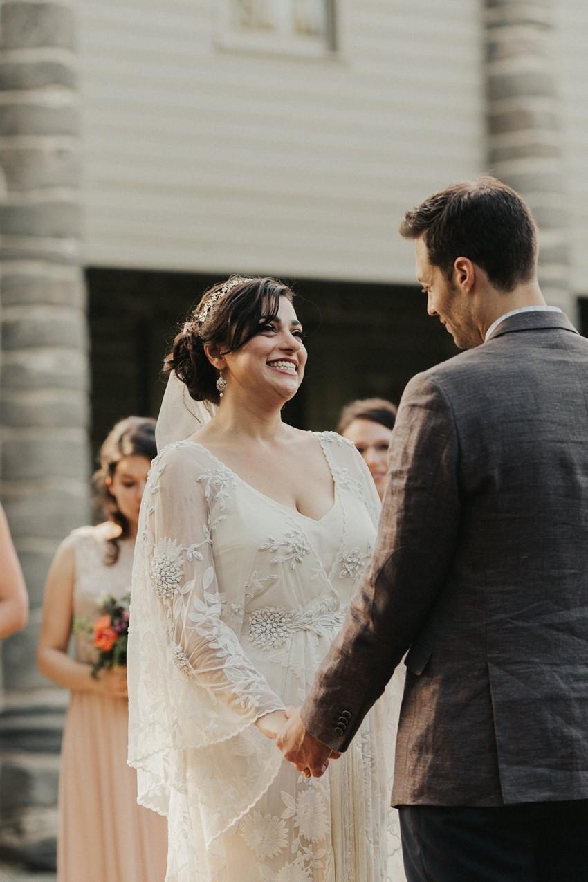 Romantic Outdoor Garden Wedding Ceremony