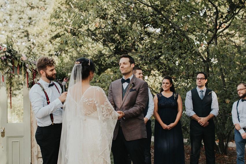 Romantic Garden Wedding Ceremony