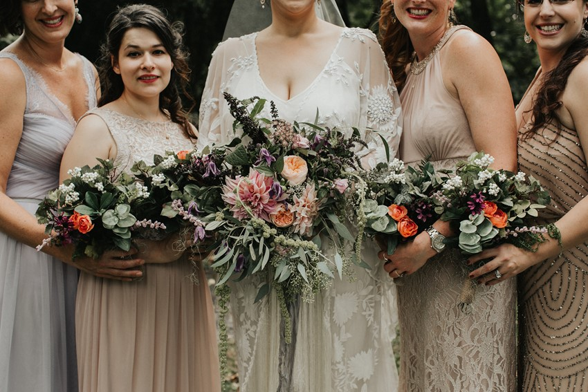 Organic Bride & Bridesmaids Bouquets