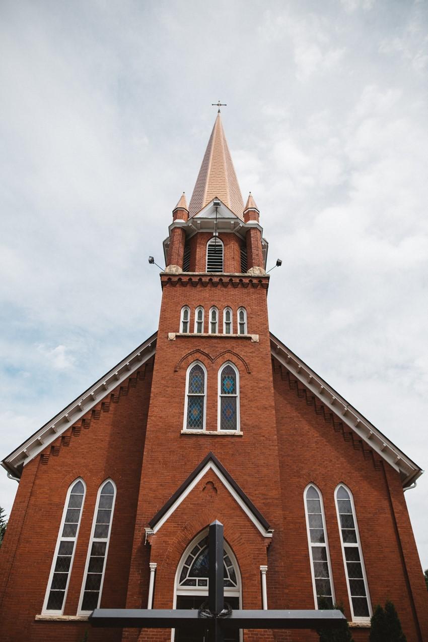 Vintage Red Brick Church Wedding Venue