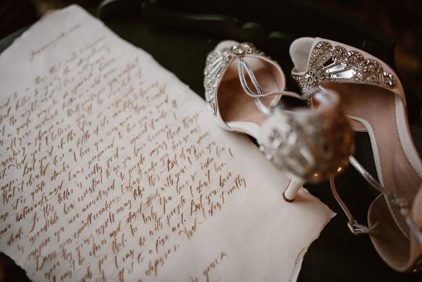 Calligraphy Wedding Note