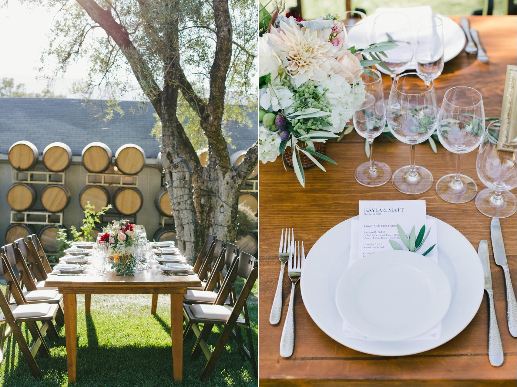 Winery Wedding Reception Decor