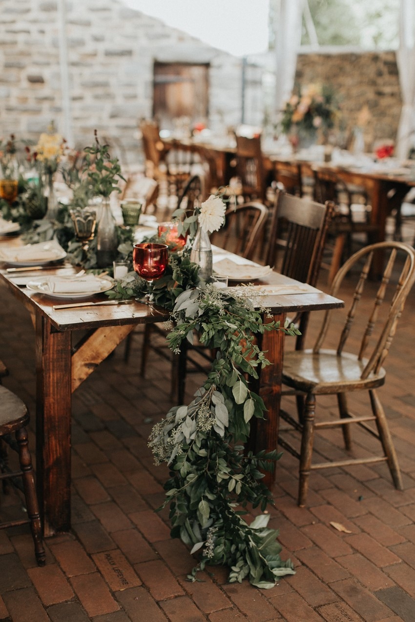 Boho Vintage Garden Wedding Reception