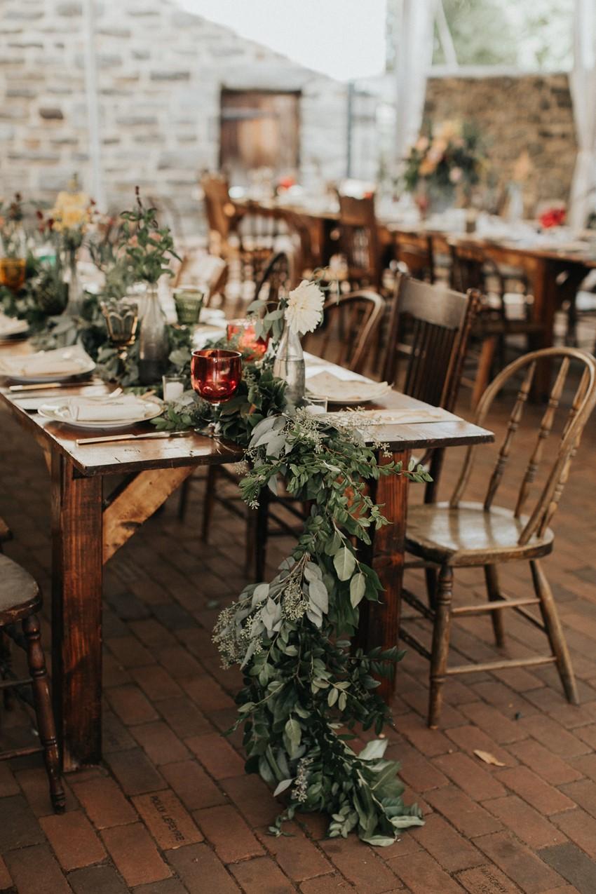 Boho Vintage Garden Wedding Reception