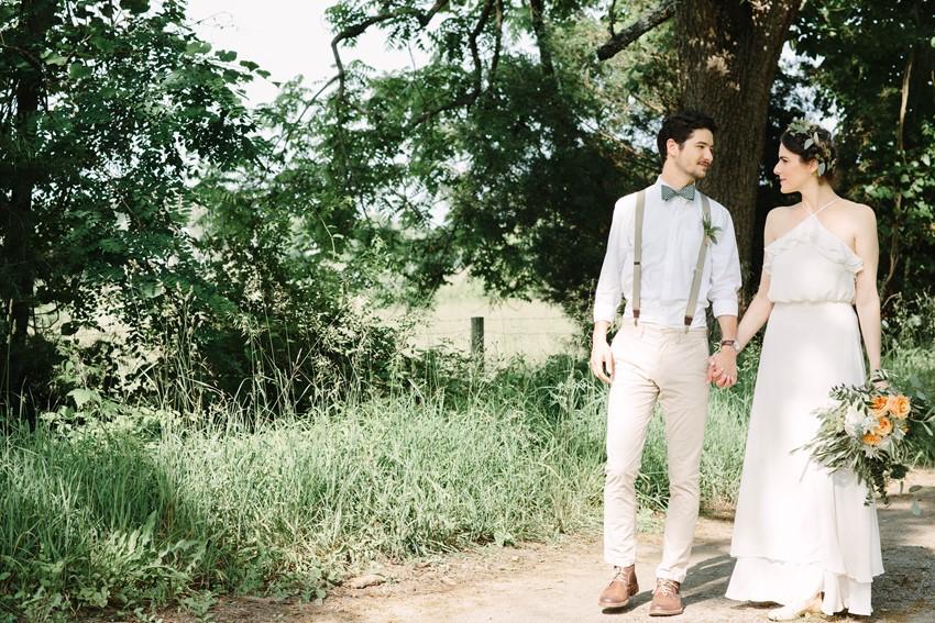 Sweet Vintage Inspired Bride & Groom