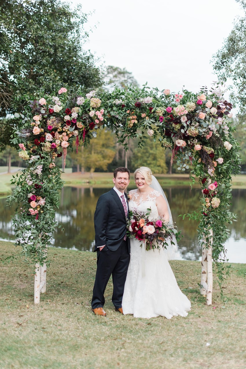 Romantic Summer Wedding in Shades of Pink