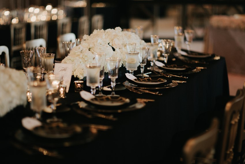 Gatbsy Inspired Wedding Table