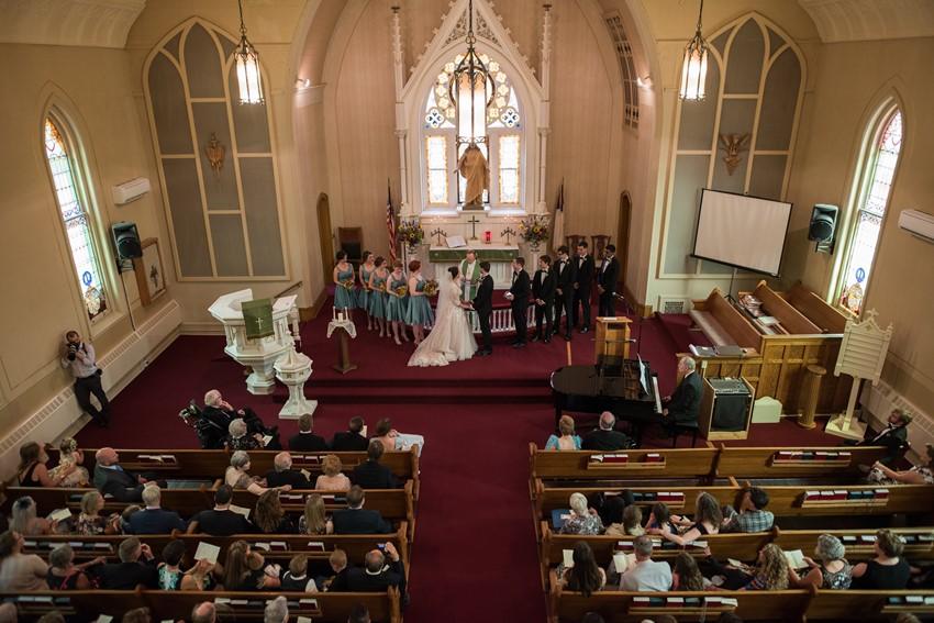 Romantic Church Wedding Ceremony