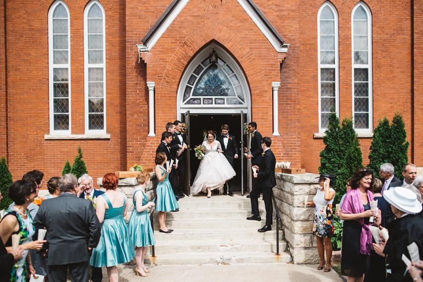 Romantic Church Wedding Exit