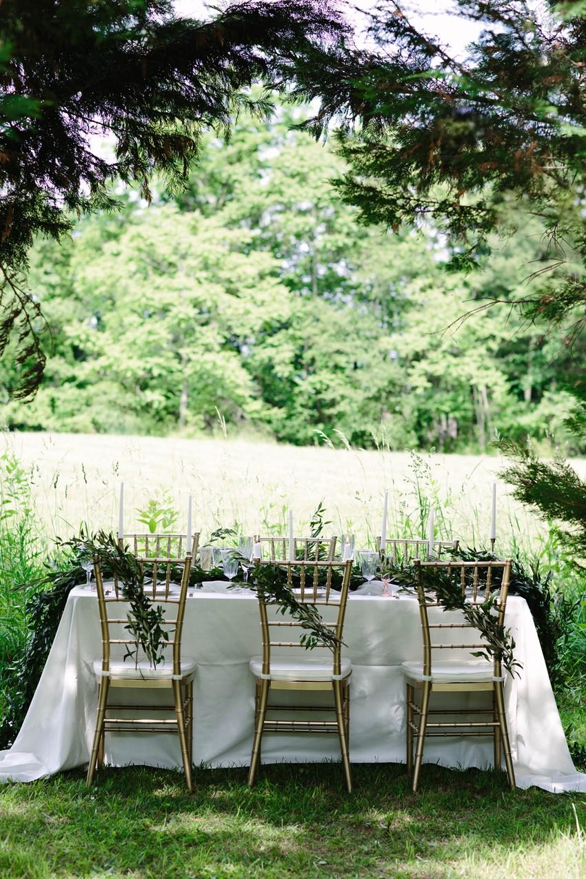 Intimate Blue Ridge Mountain Wedding Table