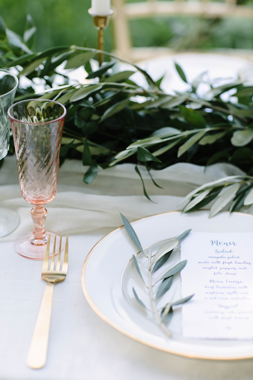 Olive Wedding Table Decor
