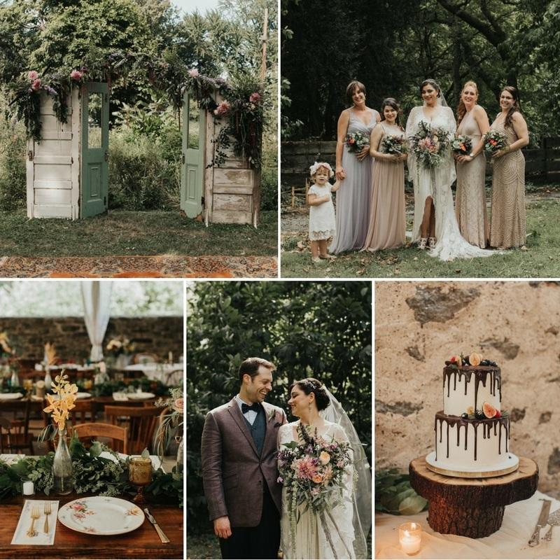 A Vintage Garden Party Wedding in a Botanical Garden