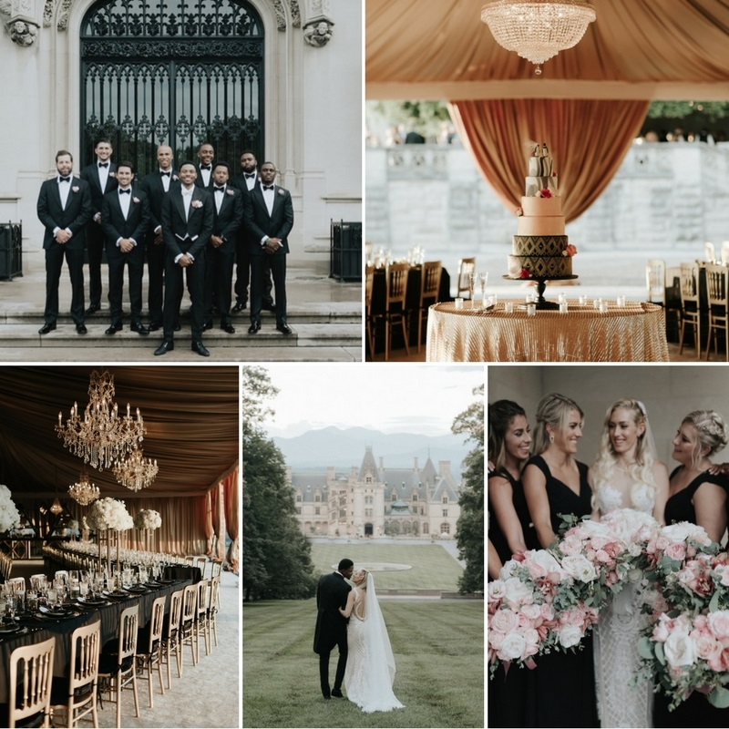 A Sophisticated & Glamorous Gatsby-Inspired Wedding at the Biltmore Estate