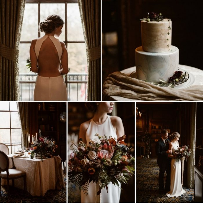 Elegant Winter Wedding Inspiration at the Hampshire House