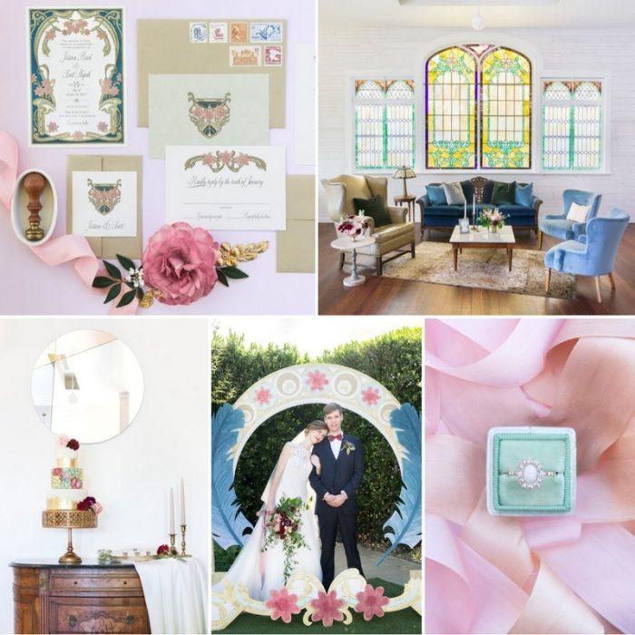 Pretty Pastel Art Nouveau Wedding Inspiration