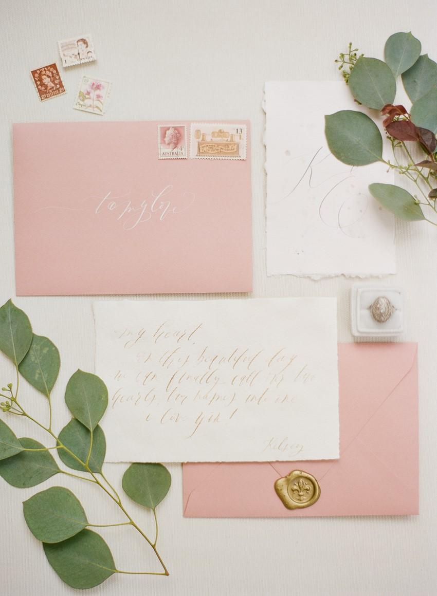Pink Spring Wedding Invitation