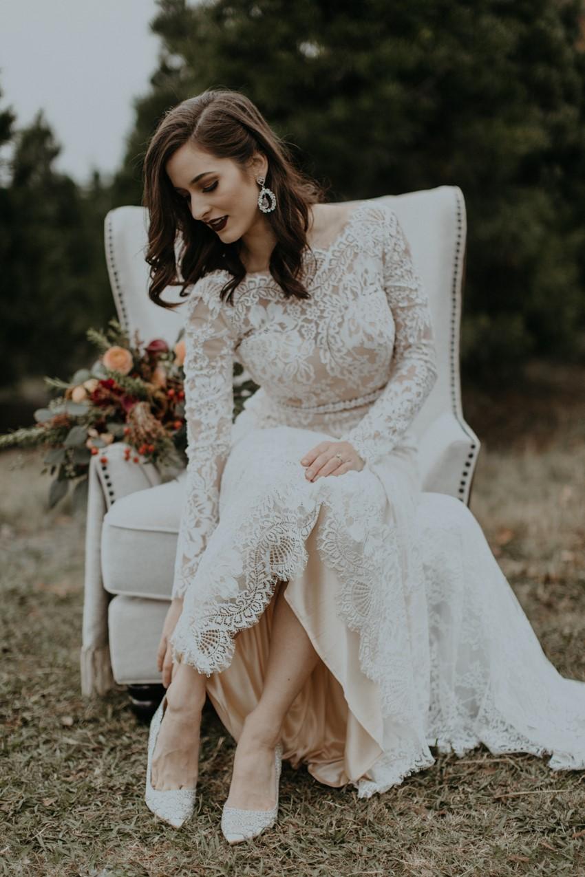 Winter Bride Getting Ready