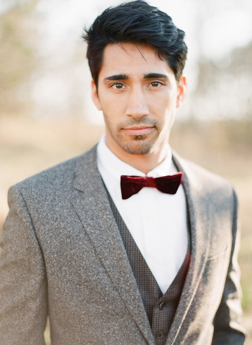 Flannel Groom's Suit