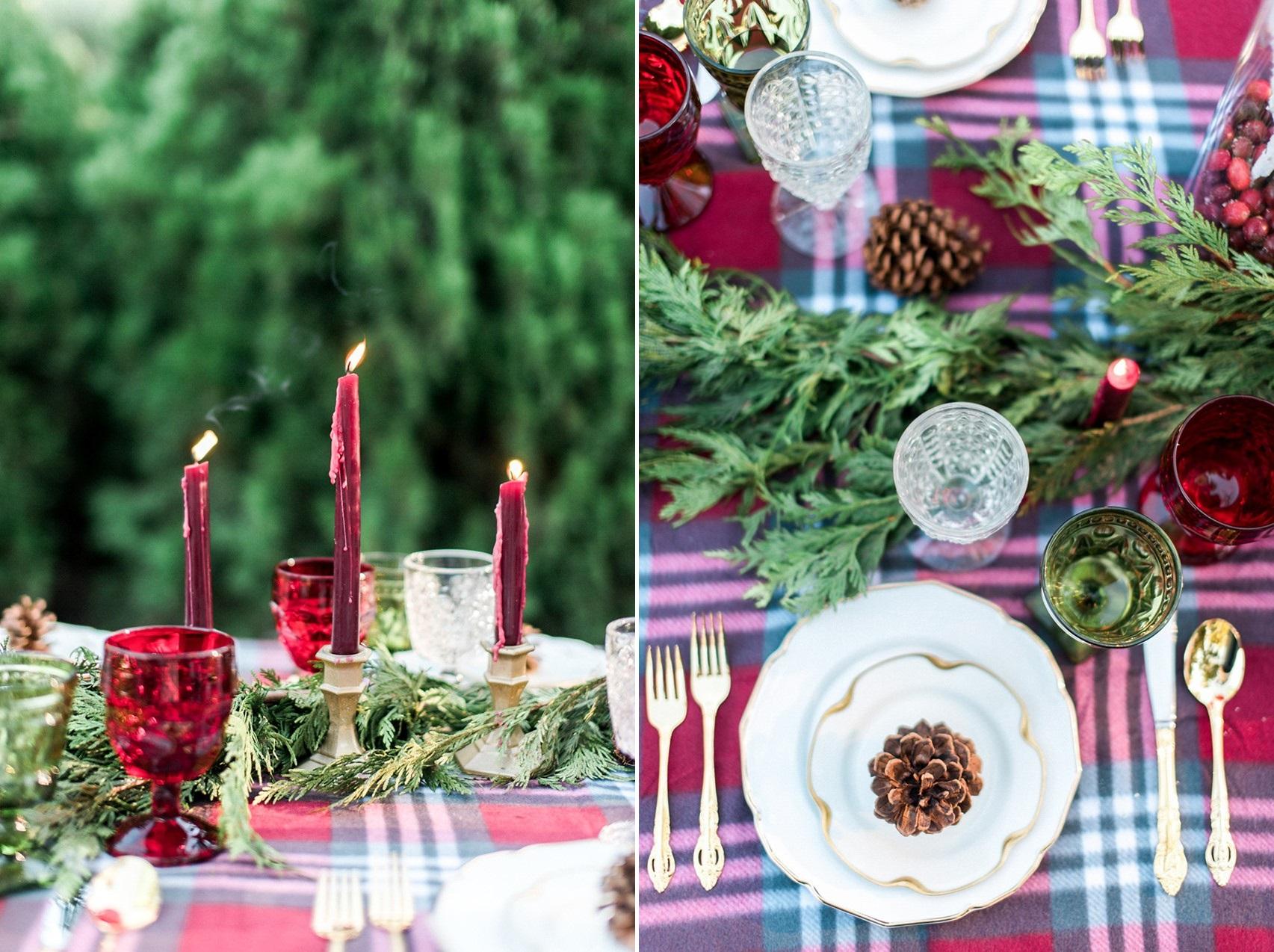 Plaid Wedding Table