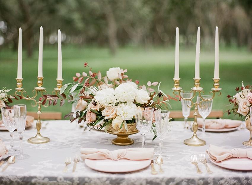 Spring Wedding Vintage Tablescape