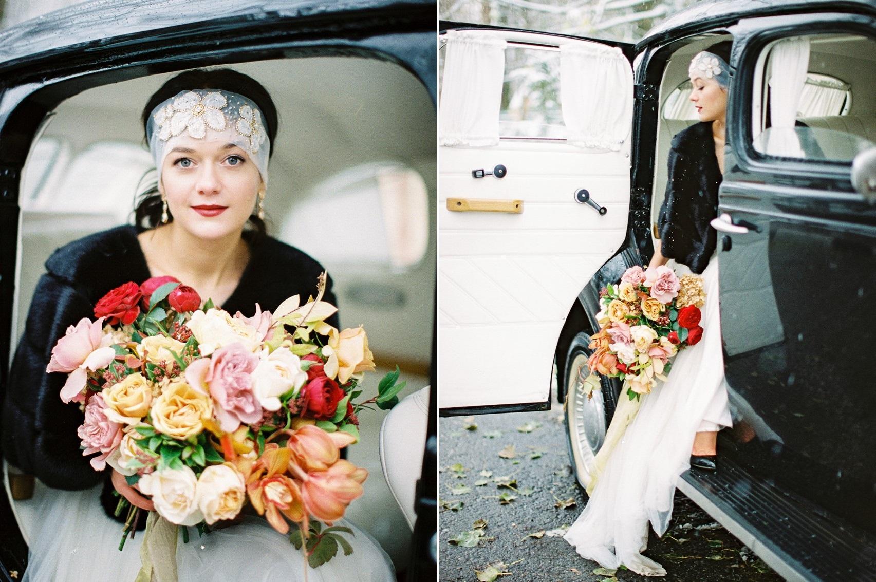 1930s Inspired Vintage Winter bride