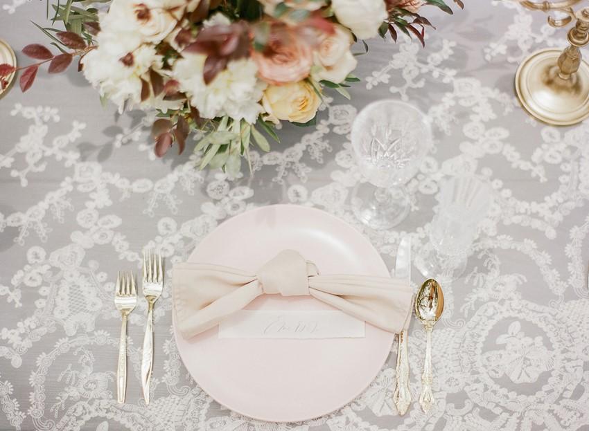 Spring Wedding Blush Wedding Place Setting