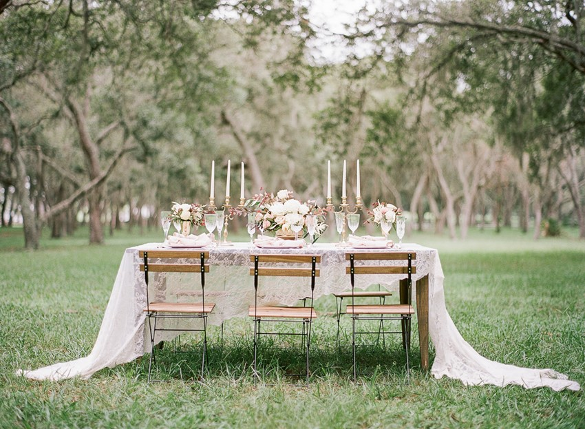 Outdoor Spring Wedding Table