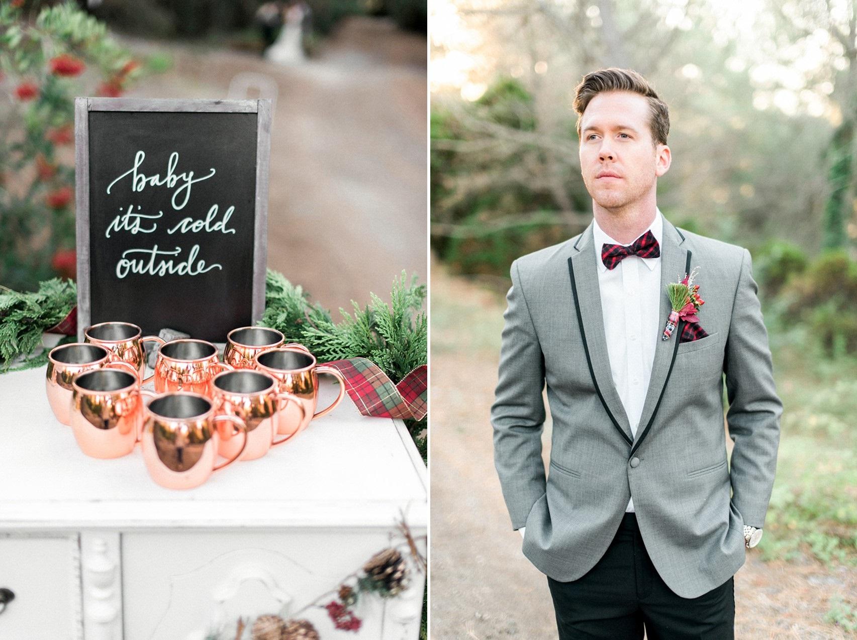 Christmas Wedding Decor