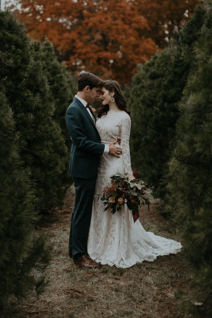 Christmas Tree Farm Wedding Inspiration