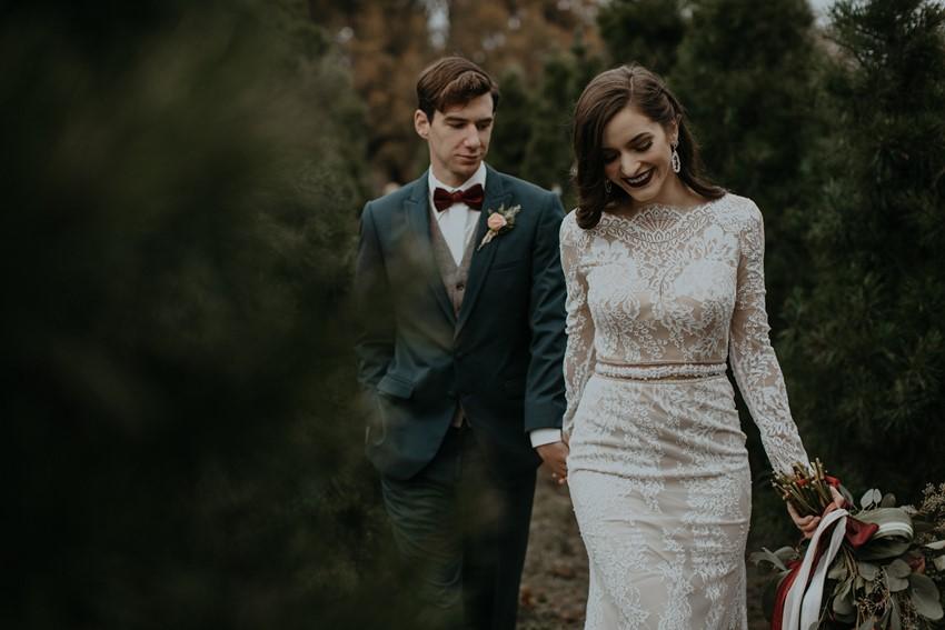 Modern Vintage Bride & Groom