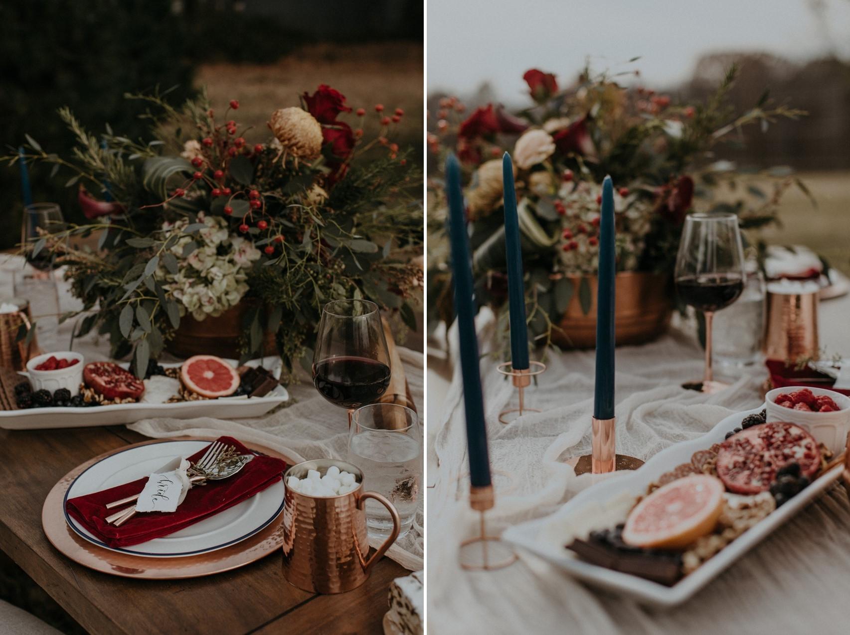 Christmas Wedding Place Setting