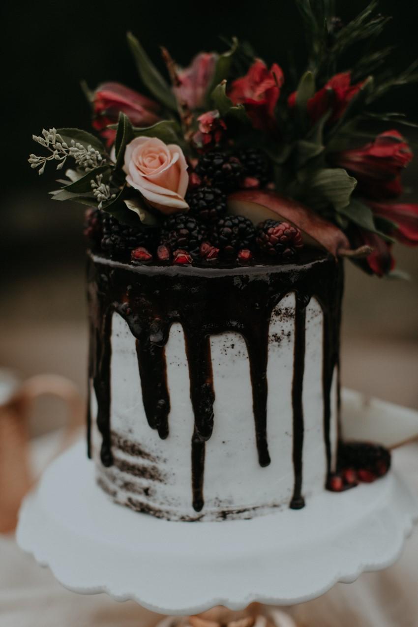 Christmas Chocolate Drizzle Wedding Cake