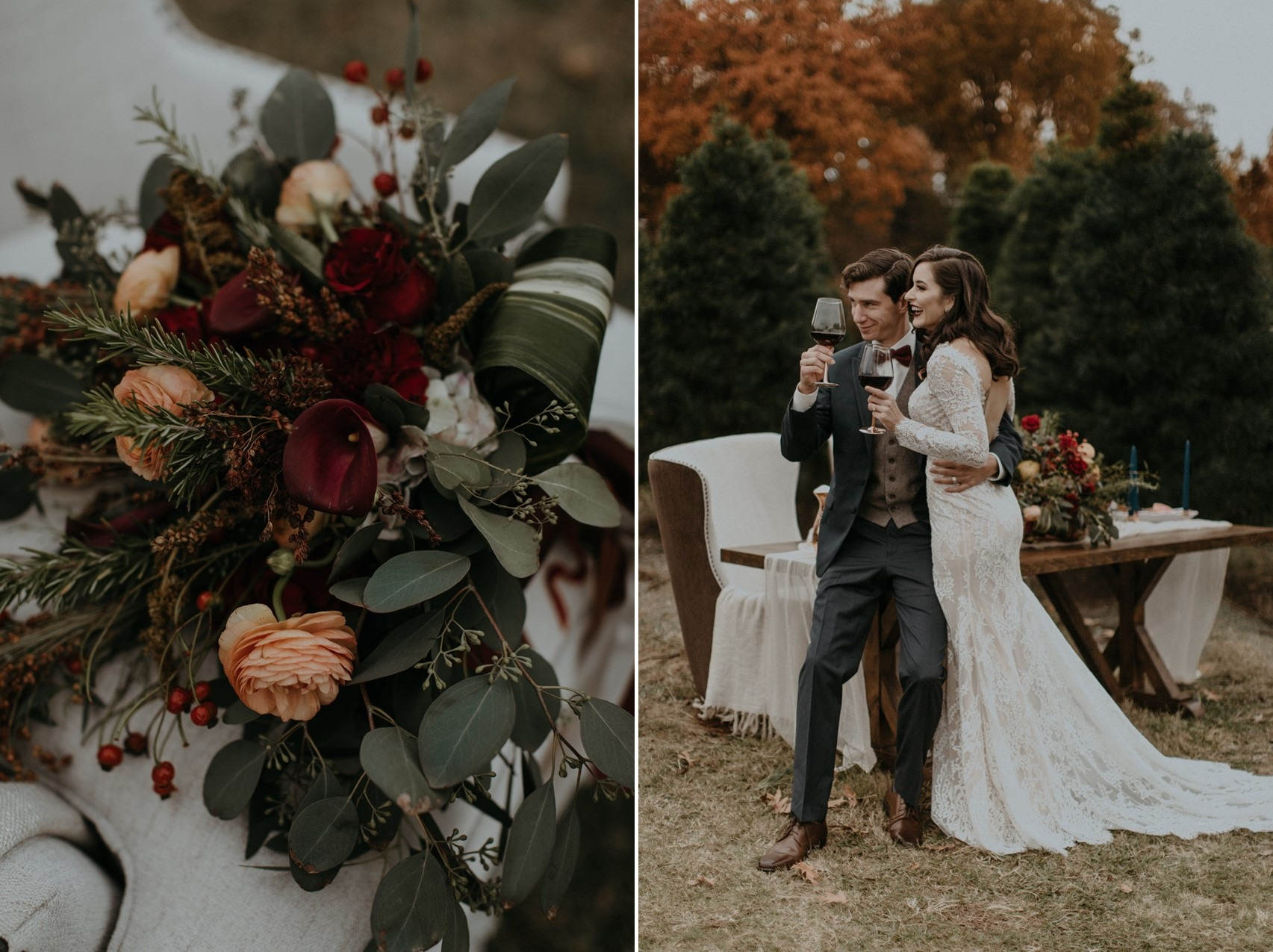 Modern Vintage Fall Wedding