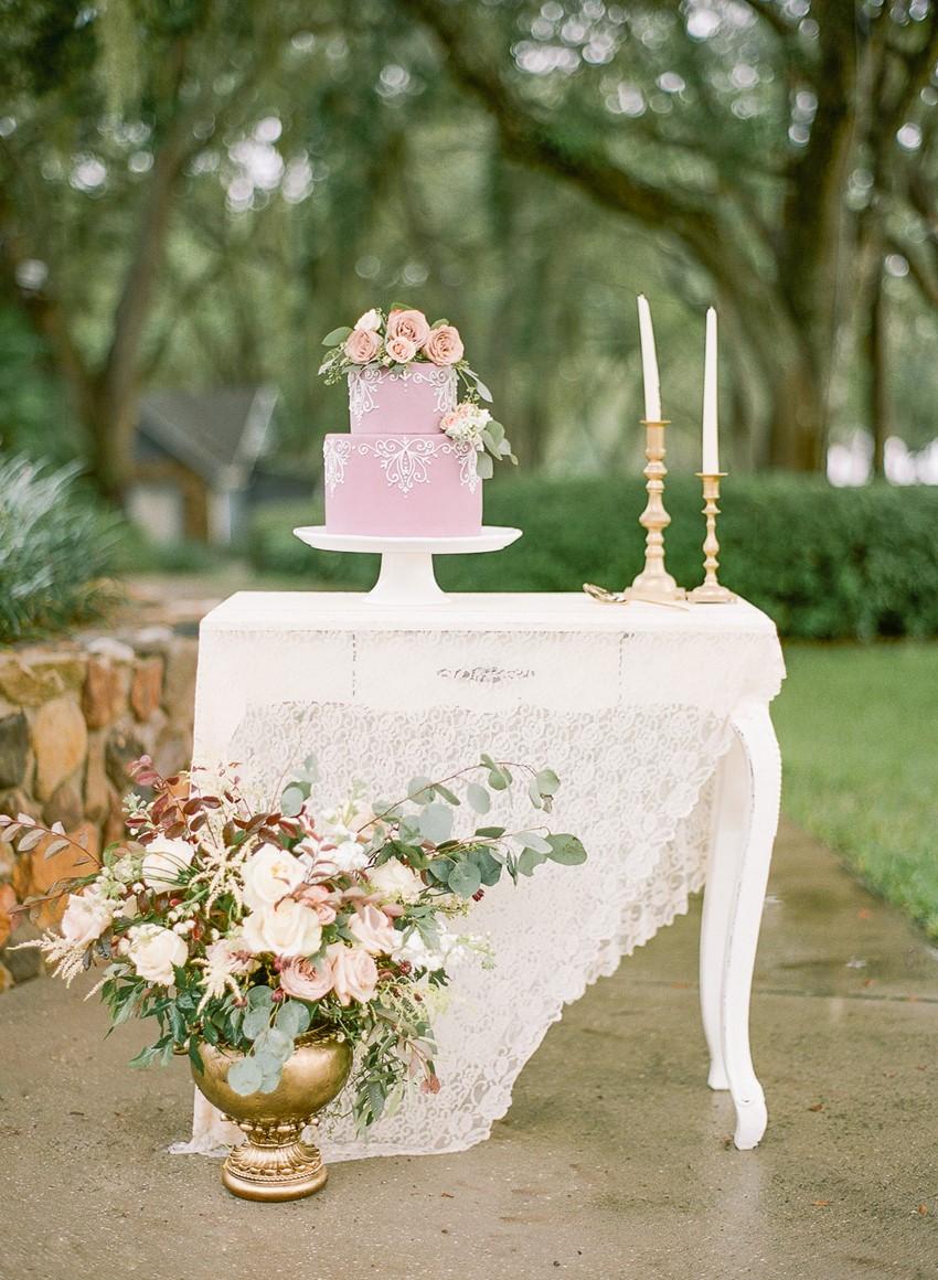 Spring Vintage Wedding Cake