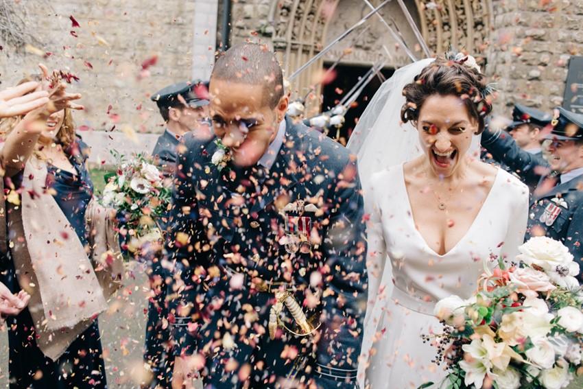 English Wedding Confetti Toss