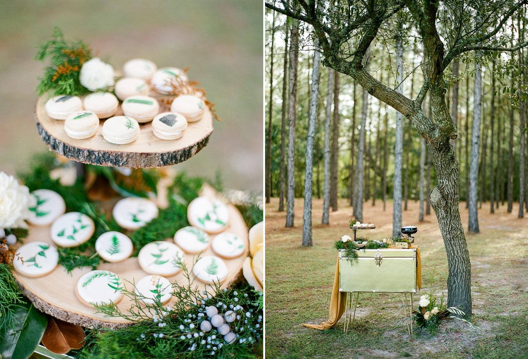 Glamorous Green Amp Gold Woodland Wedding Inspiration Chic