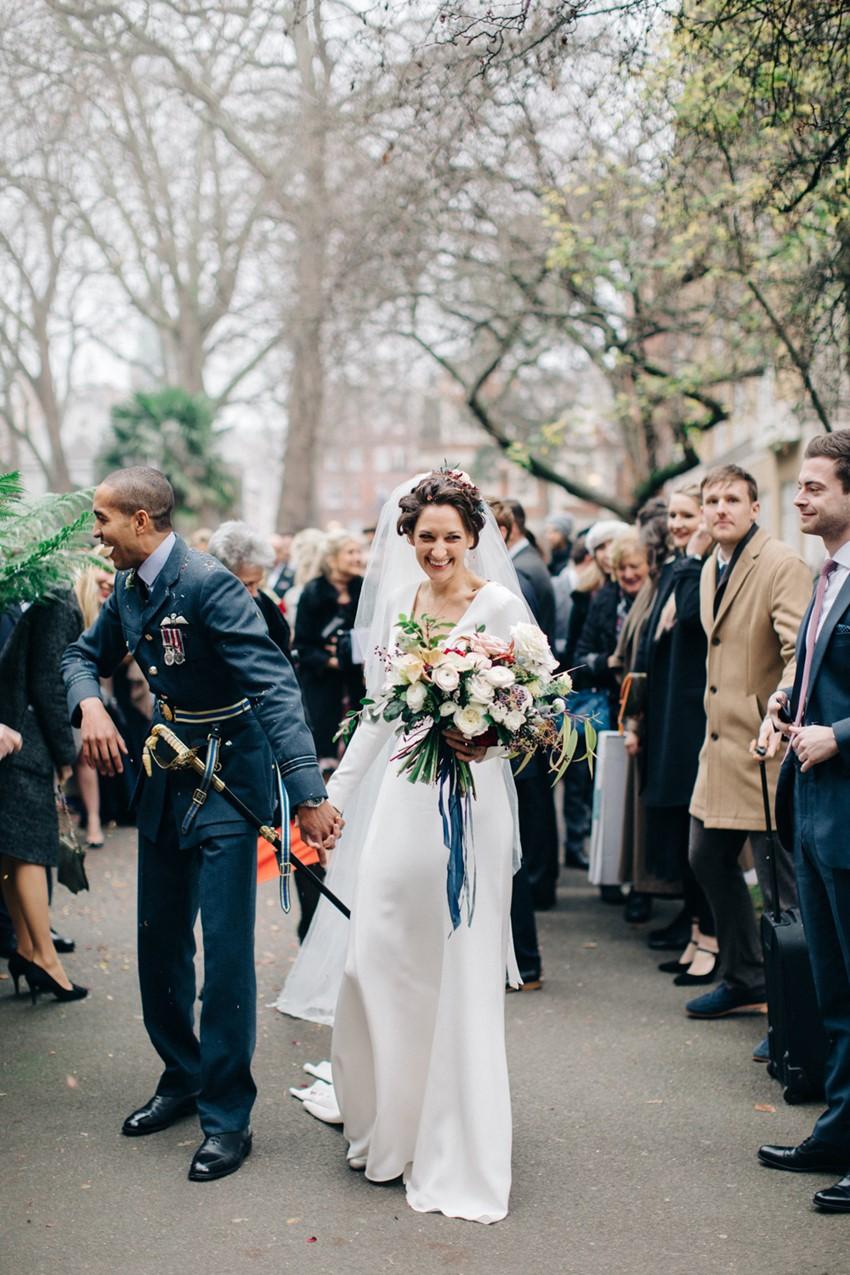 Winter Military Wedding