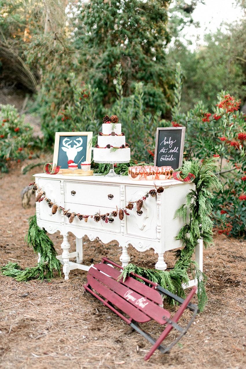 Christmas Wedding Dessert Table