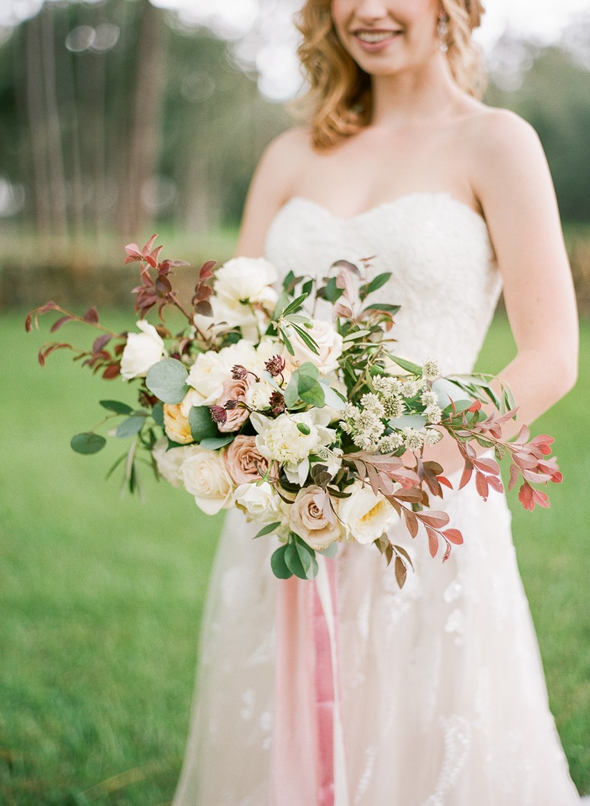 Pale Pink Spring Bridal Bouquet