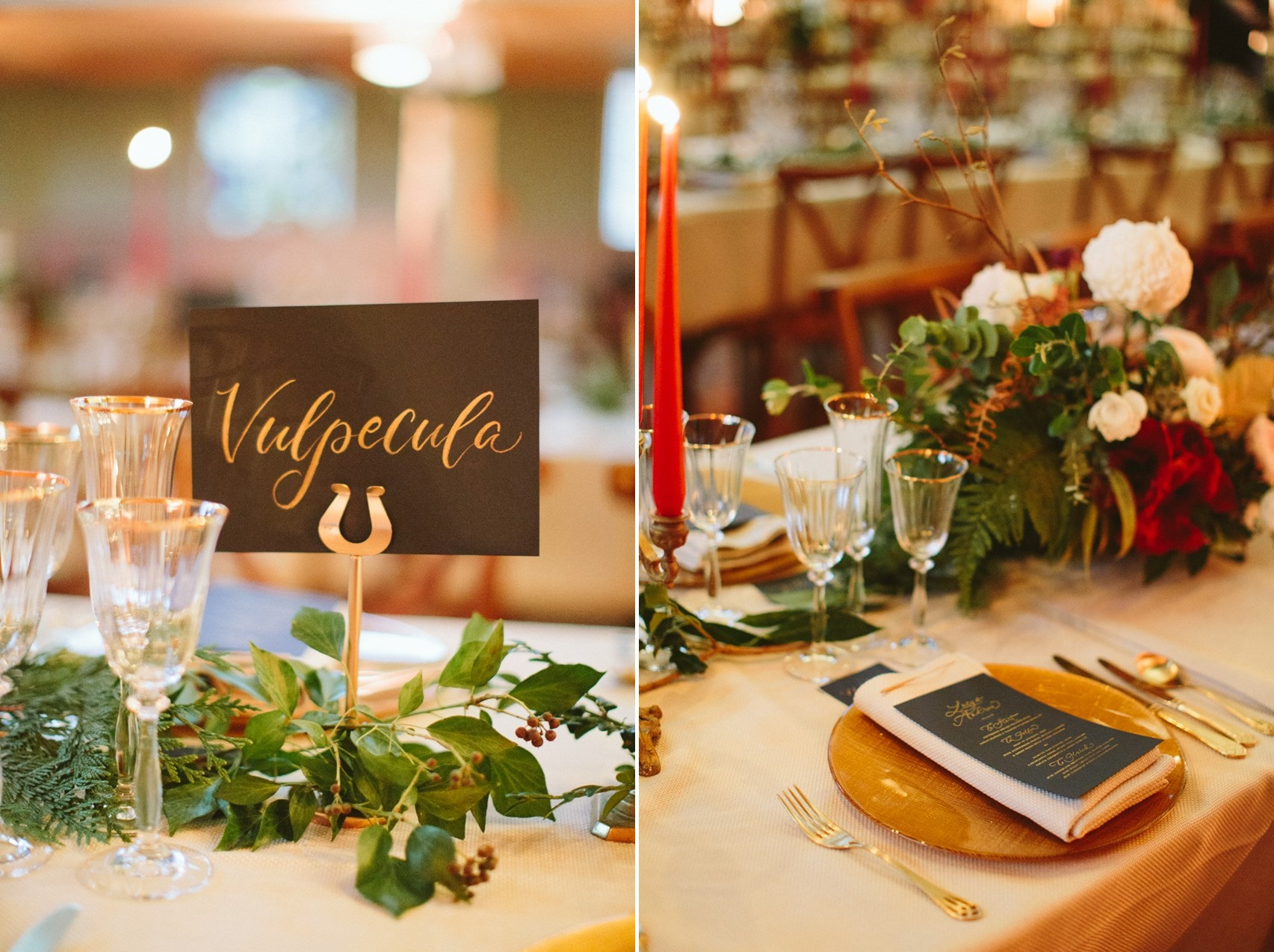 Christmas Wedding Table