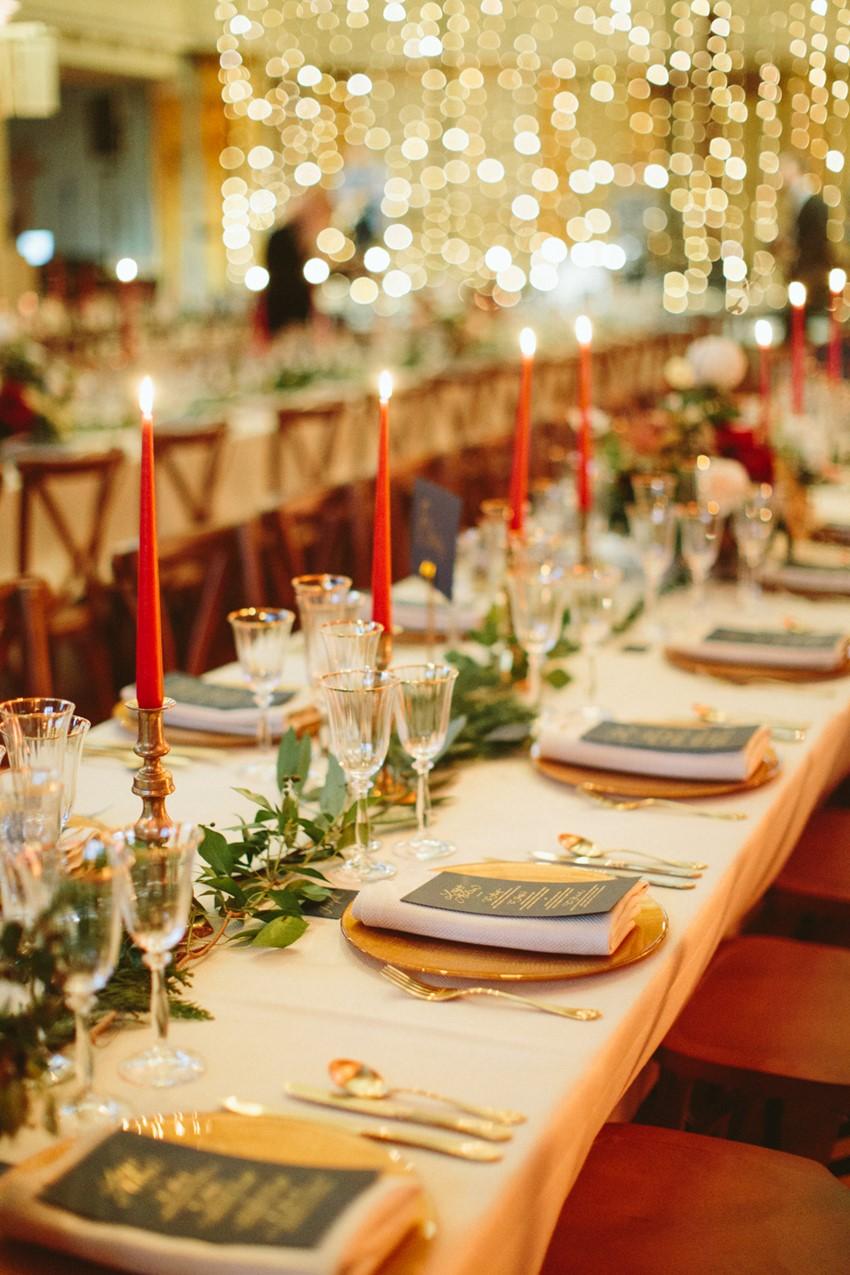 London Christmas Wedding Table