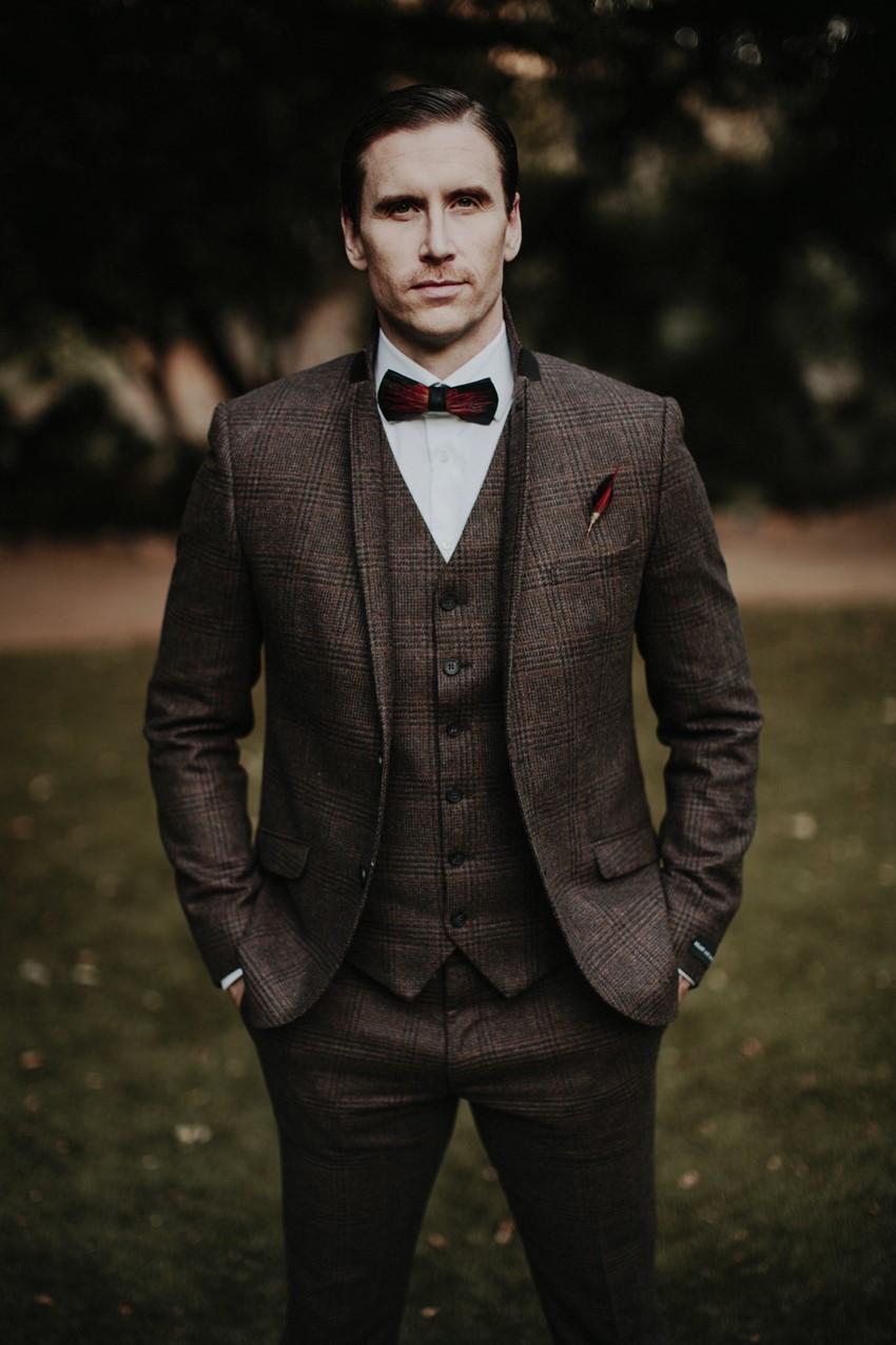 Tweed Groom's Suit