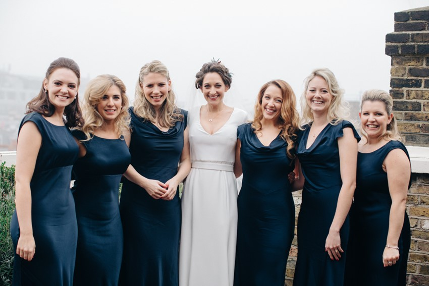 English Winter Bride & Bridesmaids