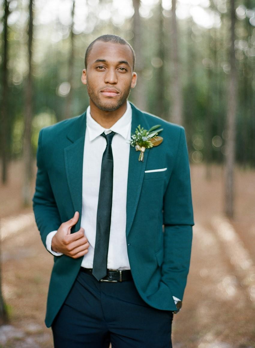 Glamorous Green & Gold Woodland Wedding Inspiration - Chic Vintage ...