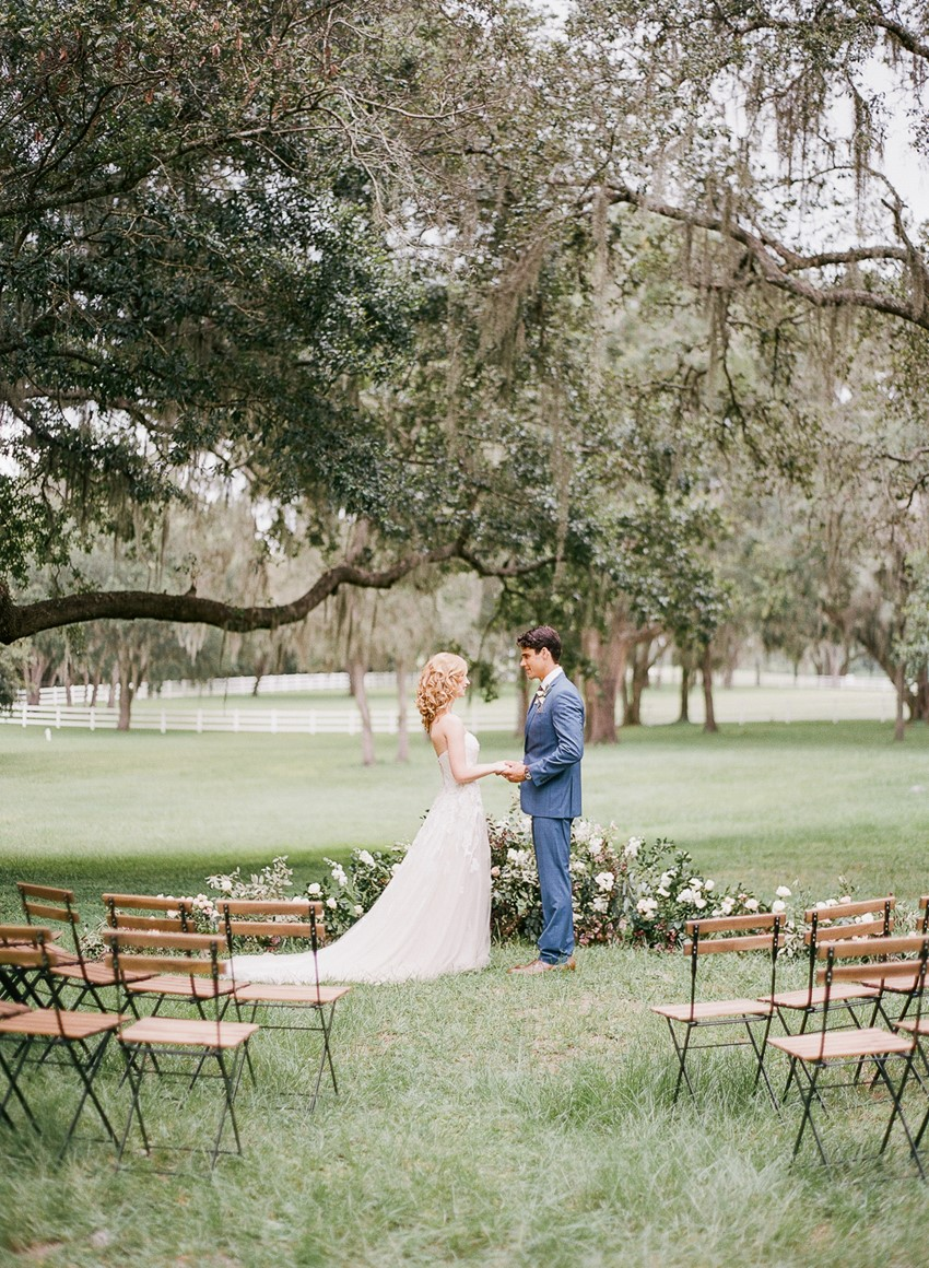 Romantic Outdoor Wedding Ceremony Under a Tree