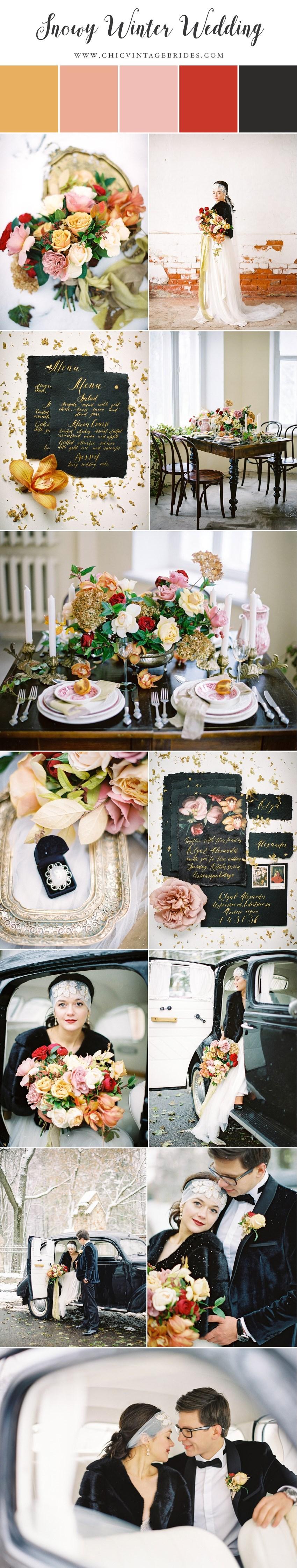 Aristocratic Snowy Winter Wedding in Russia