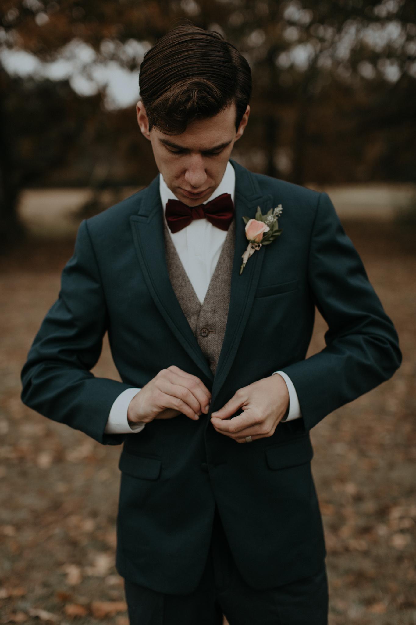 Hunter Green Groom's Suit