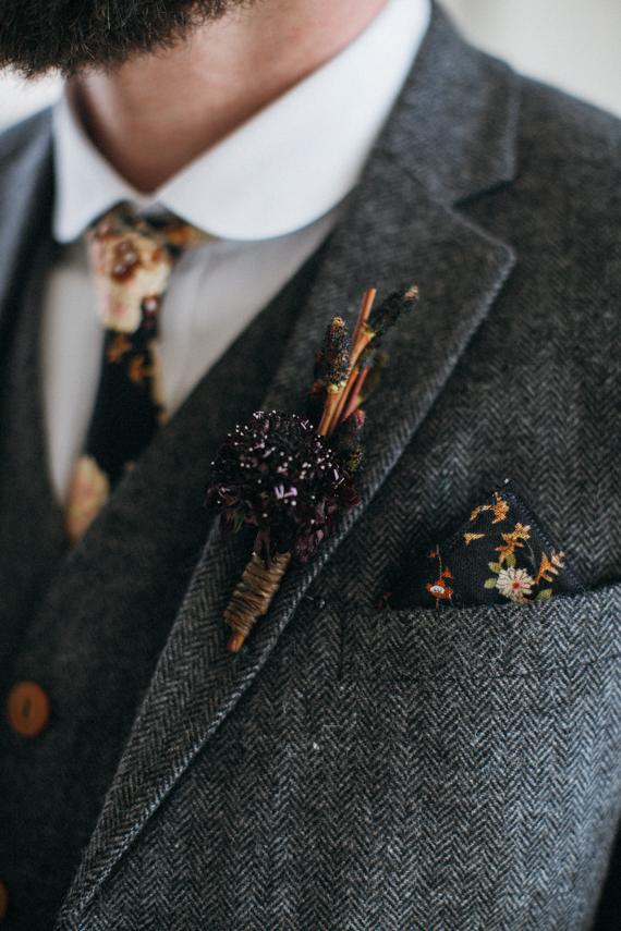Herringbone Groom's Suit