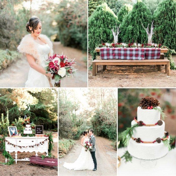 Romantic Plaid Holiday Wedding Inspiration